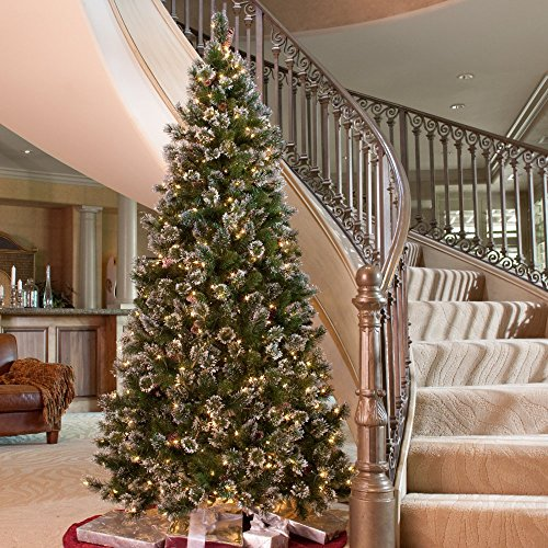 Glittery-Pine-Slim-Pre-lit-Christmas-Tree