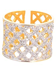 Creation Jewellery Gold Rodium Plated Gold Plated Clip-On Ring For Women