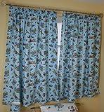 Roald Dahl George's Marvellous Medicine Blue Curtains - 100% COTTON - UK Made