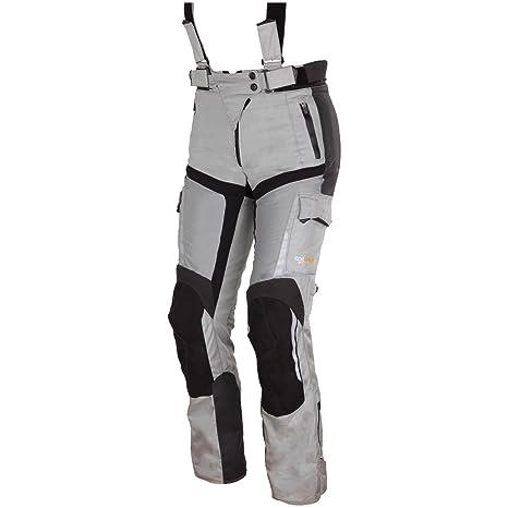 Modeka aFT lADY pantalon en textile pour femme-noir/gris