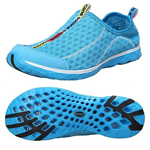 Zhuanglin Women's Quick Drying Aqua Water Shoes Size 9 B(M) US Blue