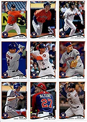 2014 Topps Update Baseball Card Team Set - Houston Astros : Including Chad Qualls , Collin McHugh , (2) George Springer , Jake Marisnick , Jesus Guzman , (2) Jon Singleton , Jose Altuve , Marc Krauss , Marwin Gonzalez , , ,