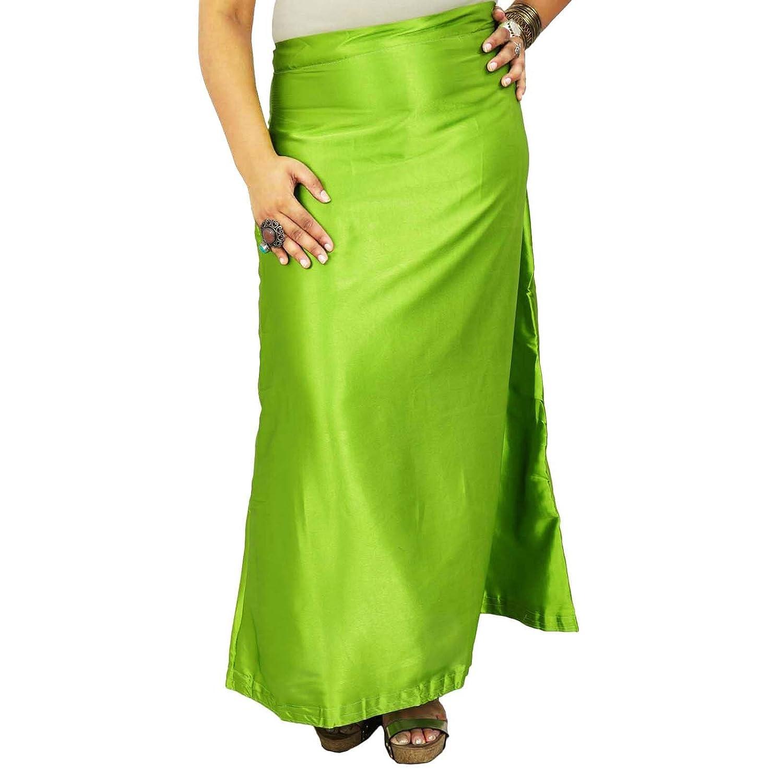 Indian Silk Satin Petticoat Bollywood Solide Inskirt Futter für Sari Frauen Kleidung