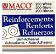 Maco Hole Reinforcements [9 Pieces] - Product Description - Maco Hole Reinforcements- Unit: Box Of 200Mend And Strengthen Punched Holes With These Self-Sticking Reinforcements In A Convenient Dispenser Box. Non-Tear Poly Material. Hole Diameter ...
