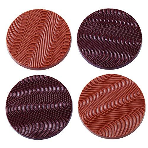 Moule disques mendiant professionnel. 8 empreintes. 15 g.