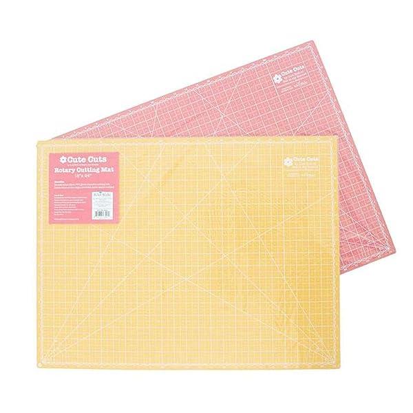 Lori Holt 18x24 Reversible Cutting Mat - New Colors - Tea Rose/Honey