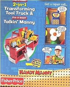Amazon Com Disney Handy Manny 2 In 1 Transforming Tool
