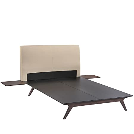 LexMod MOD-5257-CAP-BEI-SET Tracy 3-Piece Bedroom Set, Queen, Cappuccino Beige
