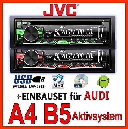 AUDI a4 b5 jVC-kD-r469E-cD/mP3/uSB avec kit de montage encastré pour autoradio-système actif pour machine