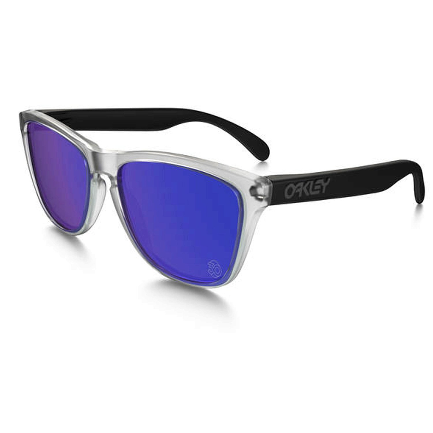 oakley iridium  clear/violet iridium