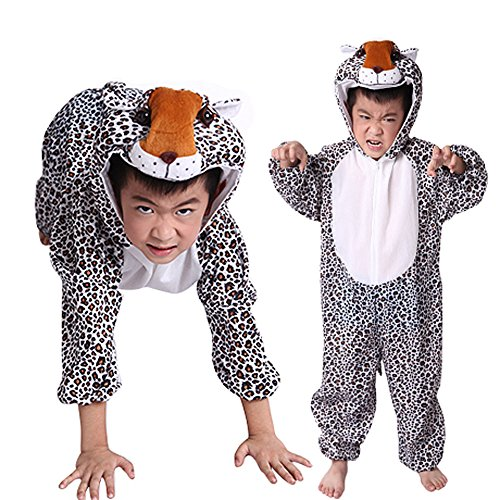 Moolecole Halloween Christmas Kids Costume Toddler Baby Animal Costume Leopard M (Pink Leopard Infant Costume)