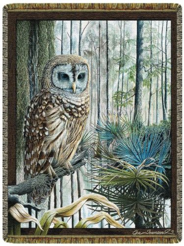 Swamp Owl Tap Tapestry Throw front-292374