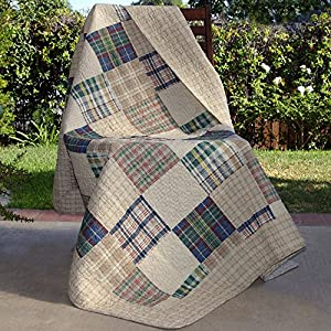 Greenland Home Fashions Oxford Throw Blanket