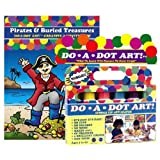 Do A Dot Art Marker Rainbow 6-pack Activity Book Gift Set - Pirates & Buried Treasures