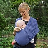 Nestglck-Premium-Baby-Tragetuch-fr-Neugeborene-und-Kleinkinder-Hochwertiges-Umhngetuch-aus-Baumwolle-Elastisches-Kindertragetuch-mit-deutschsprachiger-Anleitung-fr-Bindetechniken-Blau
