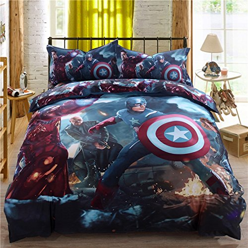 Super Heroes Bedding Set Twin Queen King Size Comforter Sheet Set (Marvel Bedding King Sheets compare prices)