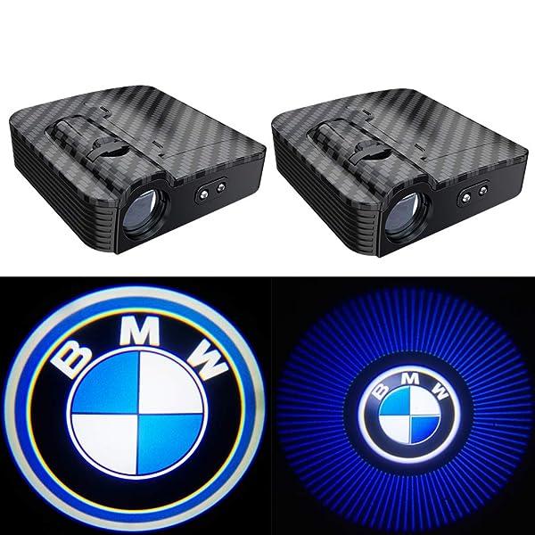 2pcs Universal Wireless Car Projection LED Projector Door Ghost Light Shadow Light Welcome Light Laser Emblem Logo Lamps