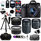 Canon EOS 70D Digital SLR Camera with 18-135mm IS STM Lens with Canon EF-S 55-250mm f/4-5.6 IS Image Stabilizer Telephoto Zoom Lens + Polaroid Studio Series .43x High Definition Wide Angle Lens With Macro Attachment + Polaroid 2.2X High Definition Telephoto Lens + 64 GB Storage + Polaroid 8 & 72 Photo / Video ProPod Tripod + Premium Polaroid Accessory Kit