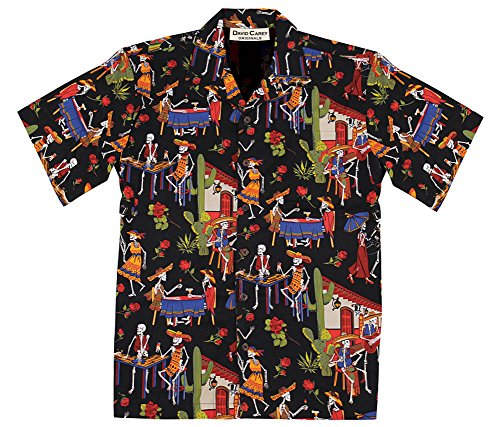 Day of the Dead - Dia de los Muertos - Hawaiian Camp Shirt, David Carey