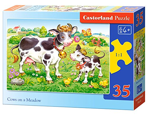 Castorland Cows on a Meadow Midi Jigsaw (35-Piece)