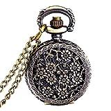 Mudder Fashion Vintage Bronze Quartz Women Pocket Watch