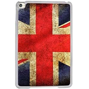 Casotec UK Flag Design 2D Hard Back Case Cover for Apple iPad Mini 4 - Clear