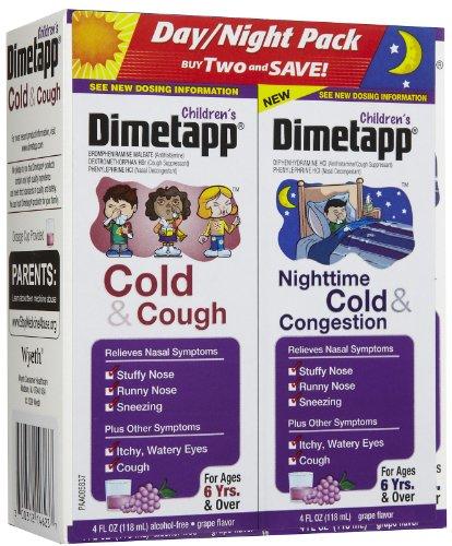 Dimetapp Children's Cold & Congestion Daytime/Nighttime Liquid-Grape-8 oz (Dimetapp Grape compare prices)