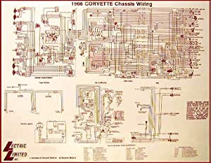 Amazon.com: 1966 Corvette Wiring Diagram 17 x 22: Automotive