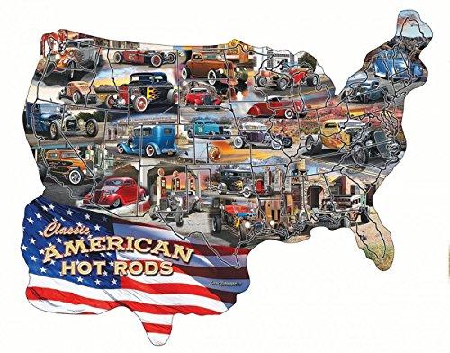 Hot Rod USA! Shaped 600 Piece Jigsaw Puzzle by Sunsout Inc.