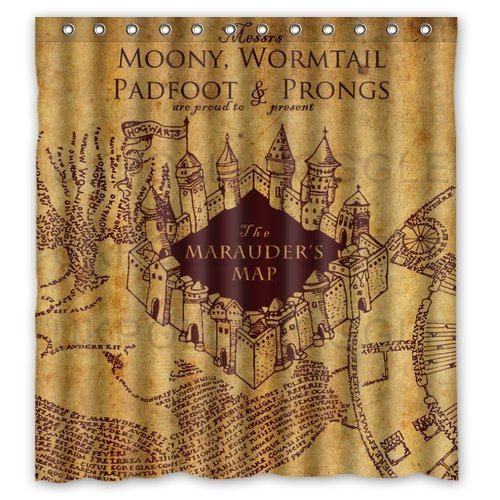 Marauder's Map H. Potter Shower Curtain