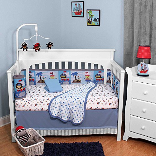 Buried Treasure 5 Piece Baby Crib Bedding Set By Breathable Baby