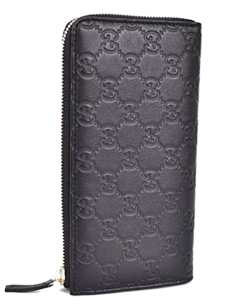Gucci 332747 Women's Leather GG Guccissima Zip Around Wallet