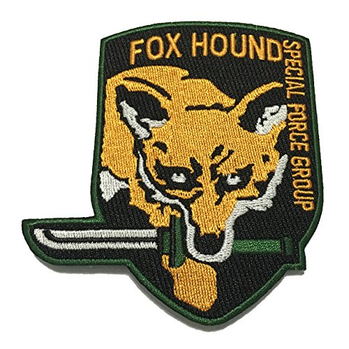 Foxhound Patch Special Force Applique Embroidered Sew Iron On Patch - APPLIQUE EMBROIDERED - Clothing Shirts Pants Novelty Iron on with heat or sew on - Decorate Bags Caps Towels - Safe Non-toxic - 100% (No Sew Hockey Blanket compare prices)