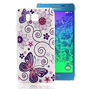 Samsung Galaxy Alpha Case, Ludan Painted Series Ultra Thin Protective TPU Gel Back Case Cover for 4.7 inches Samsung Galaxy Alpha G850 SM-G850F G850Y G850M G850S by Ludan