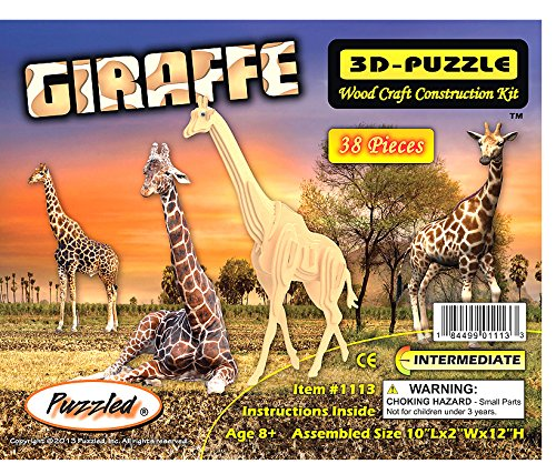 3-D Wooden Puzzle - Small Giraffe -Affordable Gift for your Little One! Item #DCHI-WPZ-M020A