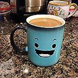iWantTo. The Best Changing Color Mug. Heat sensitive mug funny. Mug for morning coffee. Heat changing mug. Ceramic. 11 oz.