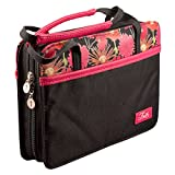 Pink & Black Poly-Canvas Purse-Style Bible / Book Cover w/