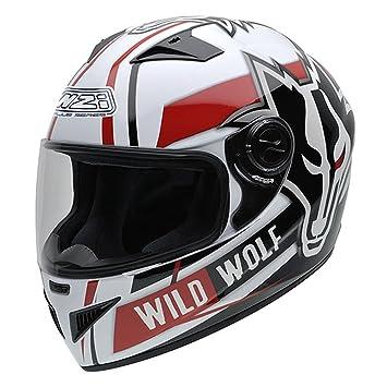 NZI 150200G607 Must WWW Casque de Moto, Blanc/Noir/Rouge, Taille : L