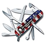Victorinox Swiss Army Fieldmaster Pocket Knife 55075.US2, Wounded Warrior Project Collection, American Flag with WWP Logo (Color: US Flag/WWP, Tamaño: 91mm)