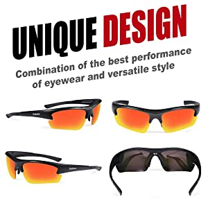 e9de1cf2cd5 Duduma Polarized Designer Fashion Sports Sunglasses for Baseball Cycling  Fishing Golf Tr62 Superlight Frame (Black ...