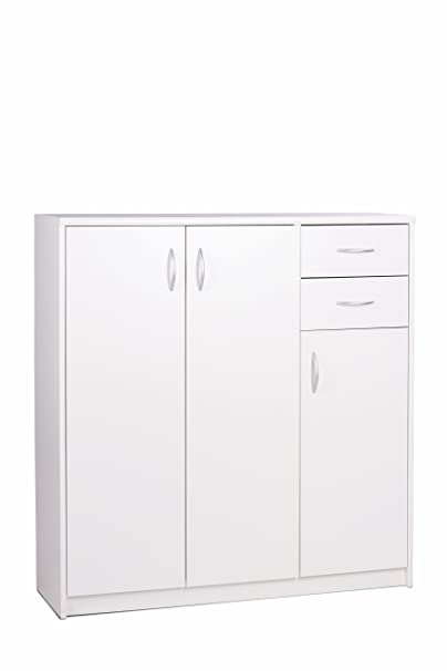 Intertrade 001078 Highboard Kosmo 1, 109 x 111 x 35 cm, dekor weiß