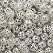 """100 Silver Plated Filigree Beads 6Mm - """"Pretty Hollow Spacer Beads"""""""