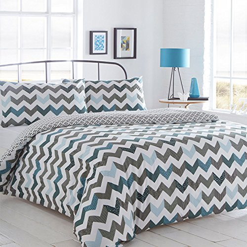 pieridae-chevron-blue-duvet-cover-pillowcase-set-bedding-quilt-case-single-double-king-daybed-bedroo
