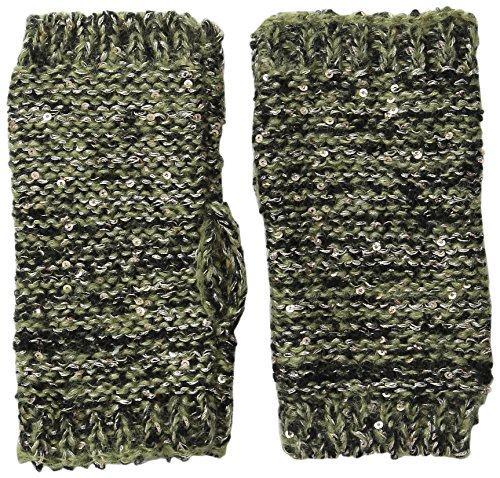 Jessica Simpson Women's Sequin and Lurex Blend Marled Knit Short Armwarmer