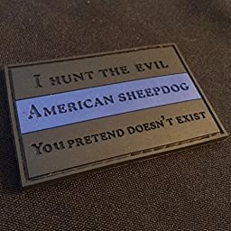 American Sheepdog Thin Blue Line Wolfhunter Patch
