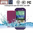 Nancy's shop Dot View Matrix Case Cover For HTC One M8 Waterproof Dirtproof Snowproof Shockproof Skin Hard Phone Shell for HTC One M8 (purple)