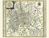 Historische Karte: Ämter Augustusburg, Chemnitz, Sachsenburg mit Frankenberg und Stollberg 1758 (Plano): KURFÜRSTENTUM SACHSEN | ERZGEBIRGISCHER ... Sachsen - Erzgebirgischer Kreis)
