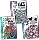 img - for Art Colour and Creative An Anti Stress Therapy Adult Colouring 3 Books Collection Pack Set book / textbook / text book