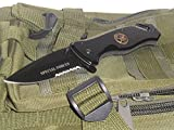 Unlimited Wares Special Force Military Tactical Spring Assisted Folding Pocket Knife with Glass Breaker and Seatbelt Cutter