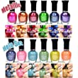 12-NEW-PCS-KLEANCOLOR-FULL-SIZE-6-METALLIC-6-HOLO-SET-NAIL-POLISH-LACQUER-FREE-EARRING-by-Kleancolor